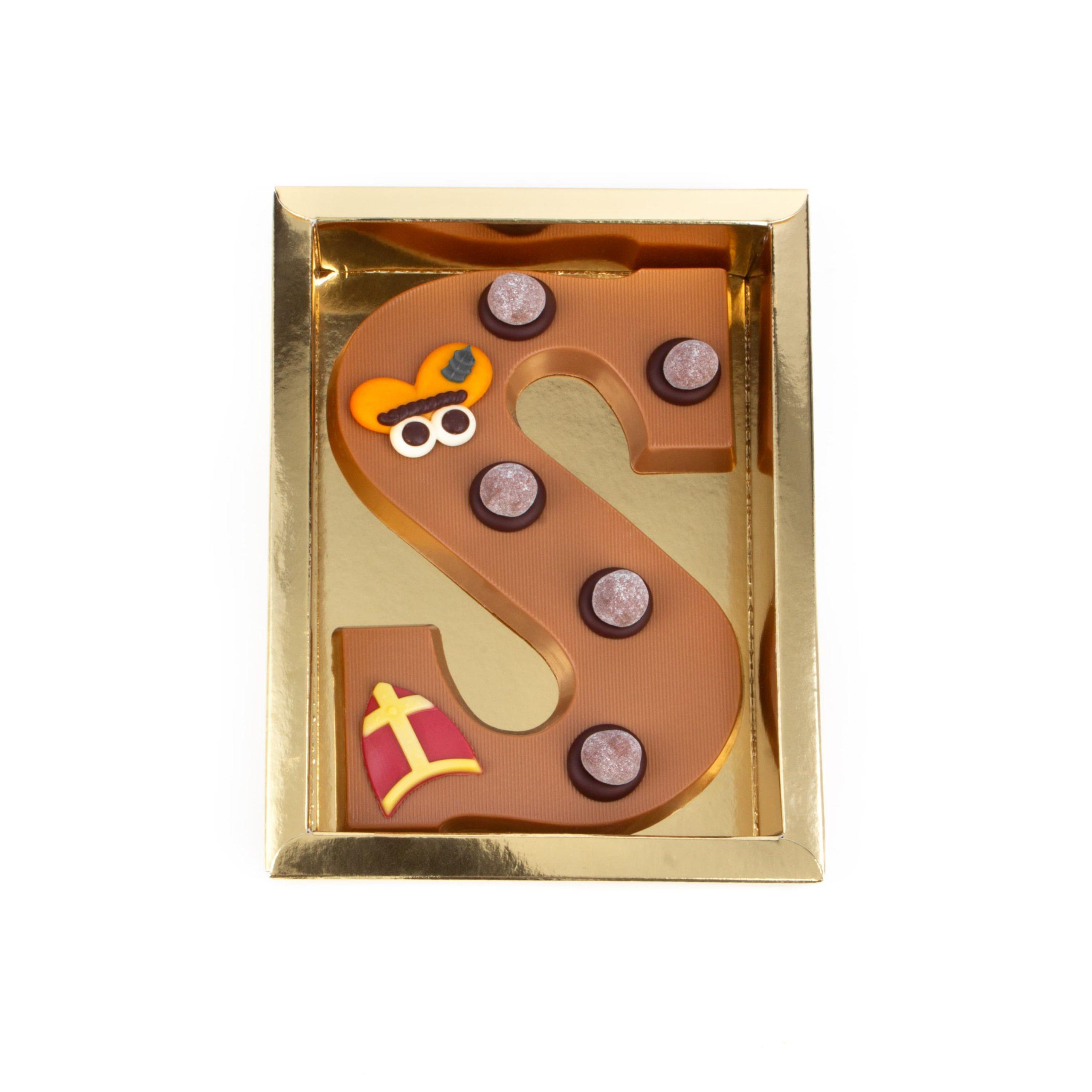 Chocolade Letter S - Piet Melk Groot
