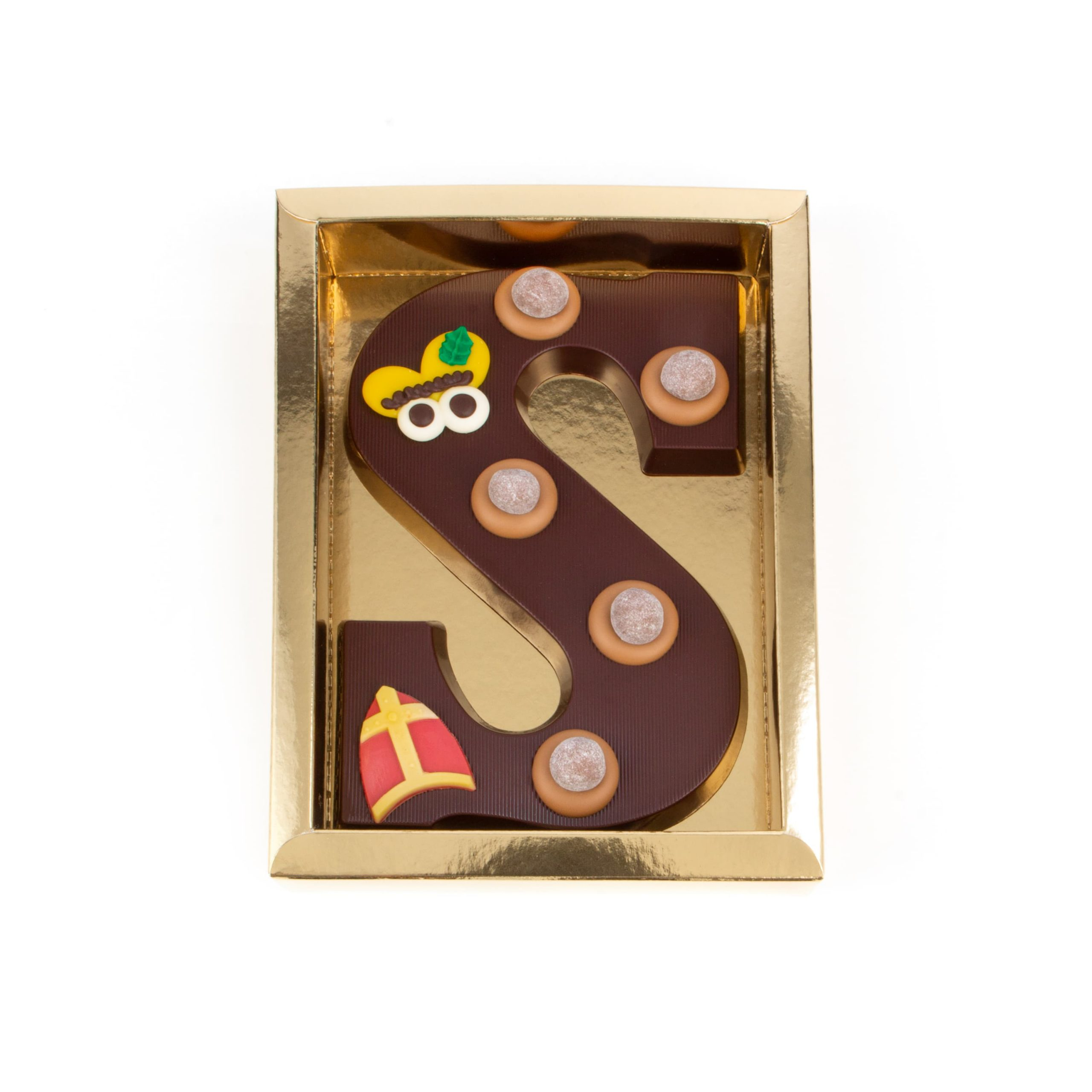 Chocolade Letter S - Piet Puur Groot