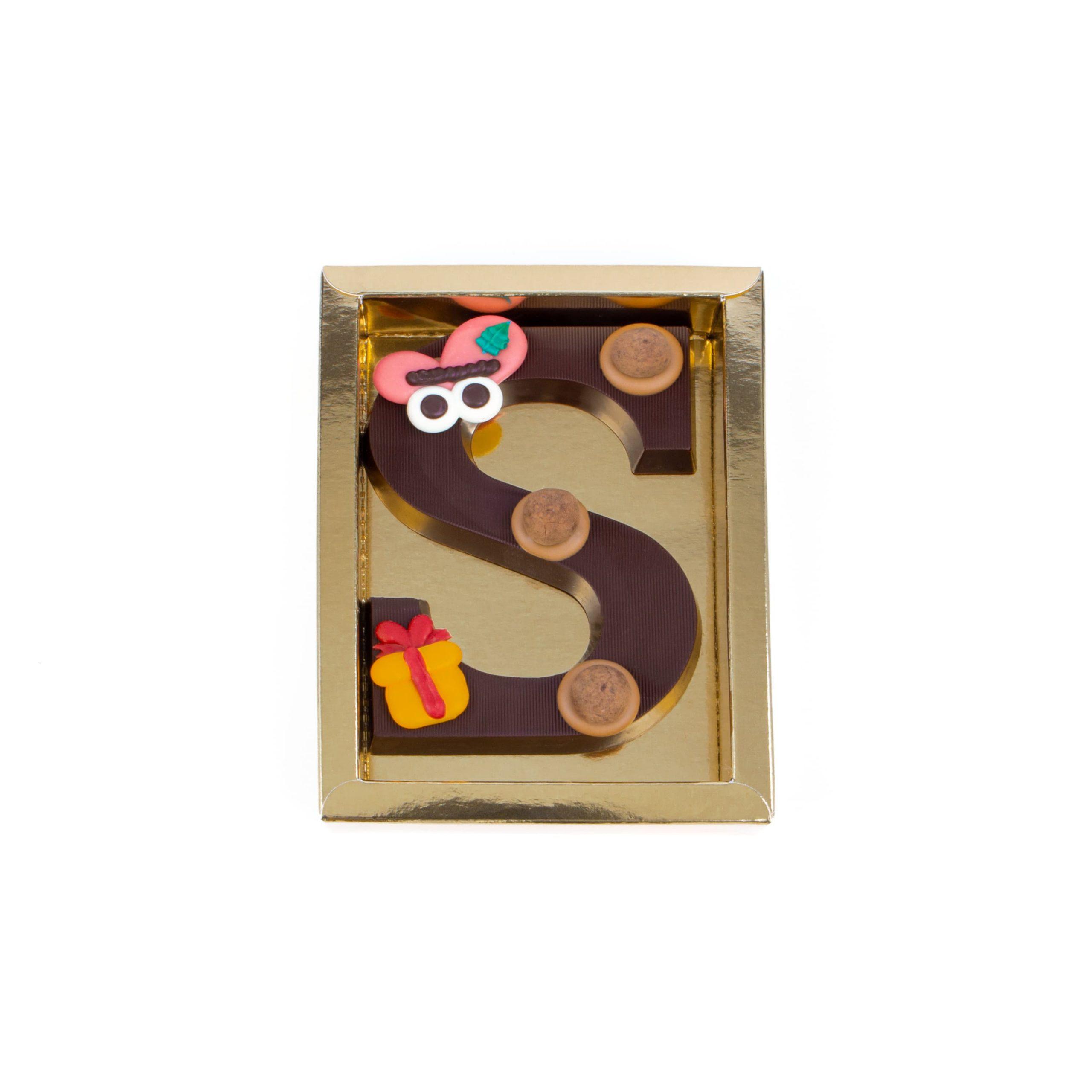 Chocolade Letter S - Piet Puur Klein