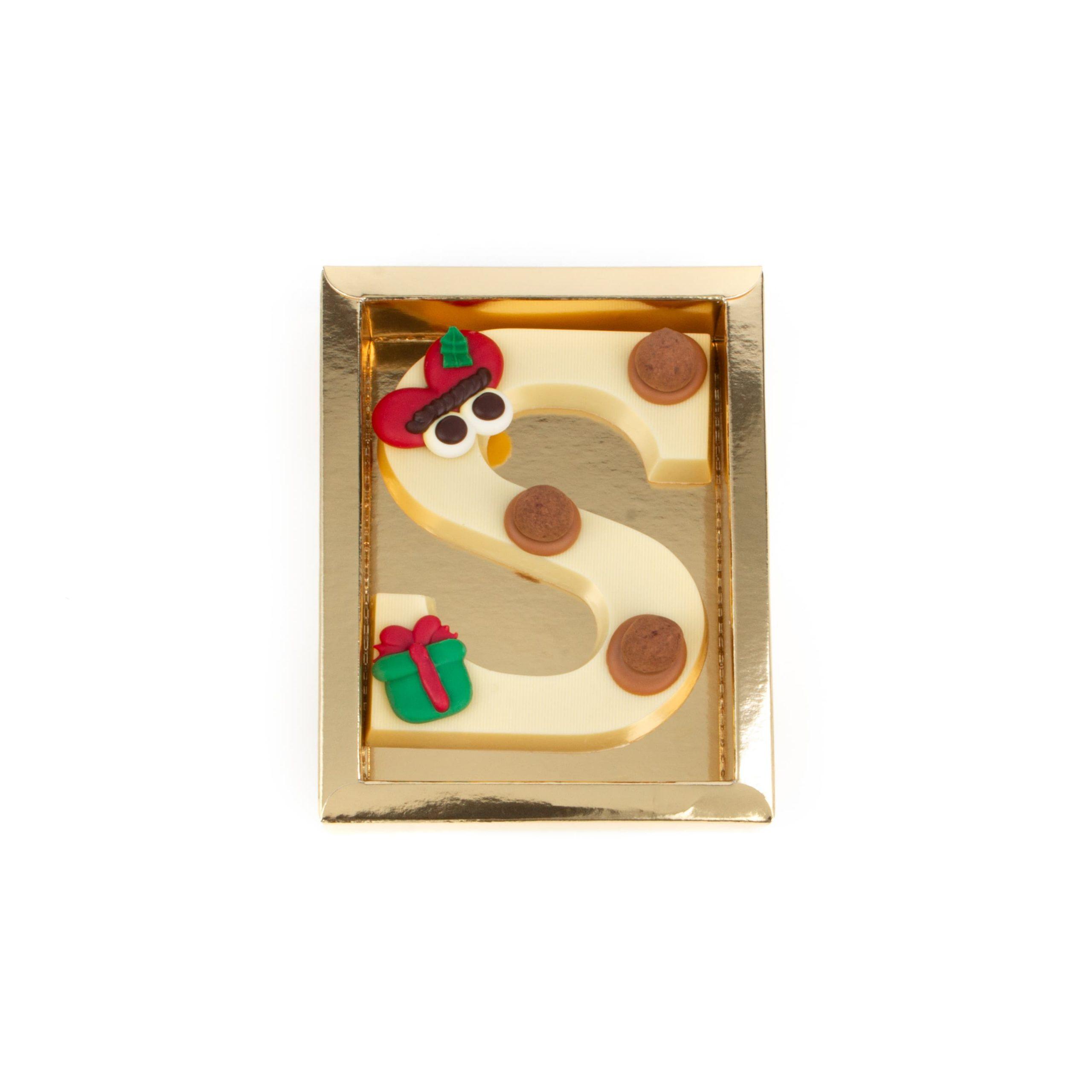 Chocolade Letter S - Piet Wit Klein