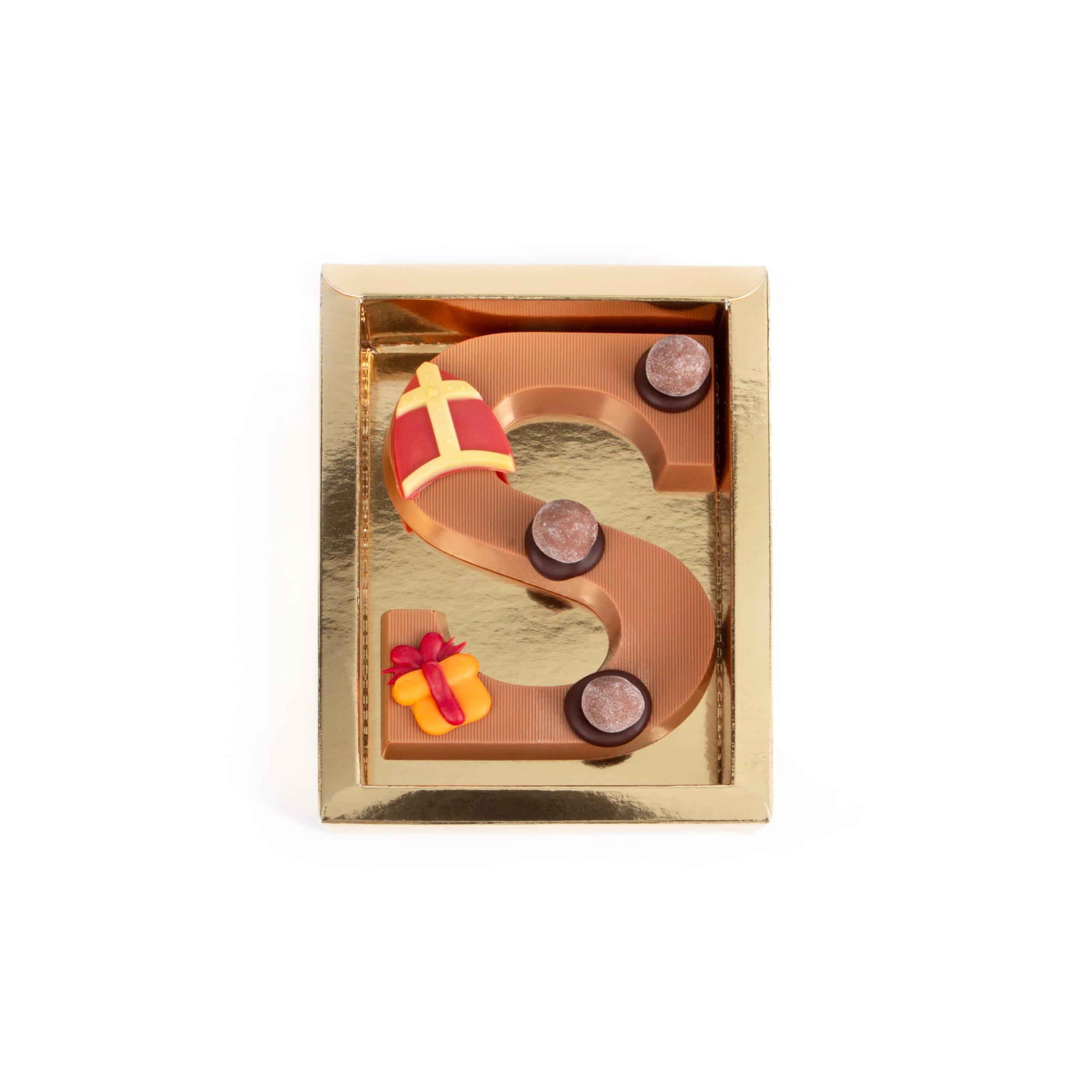 Chocolade Letter S - Sint Melk Klein