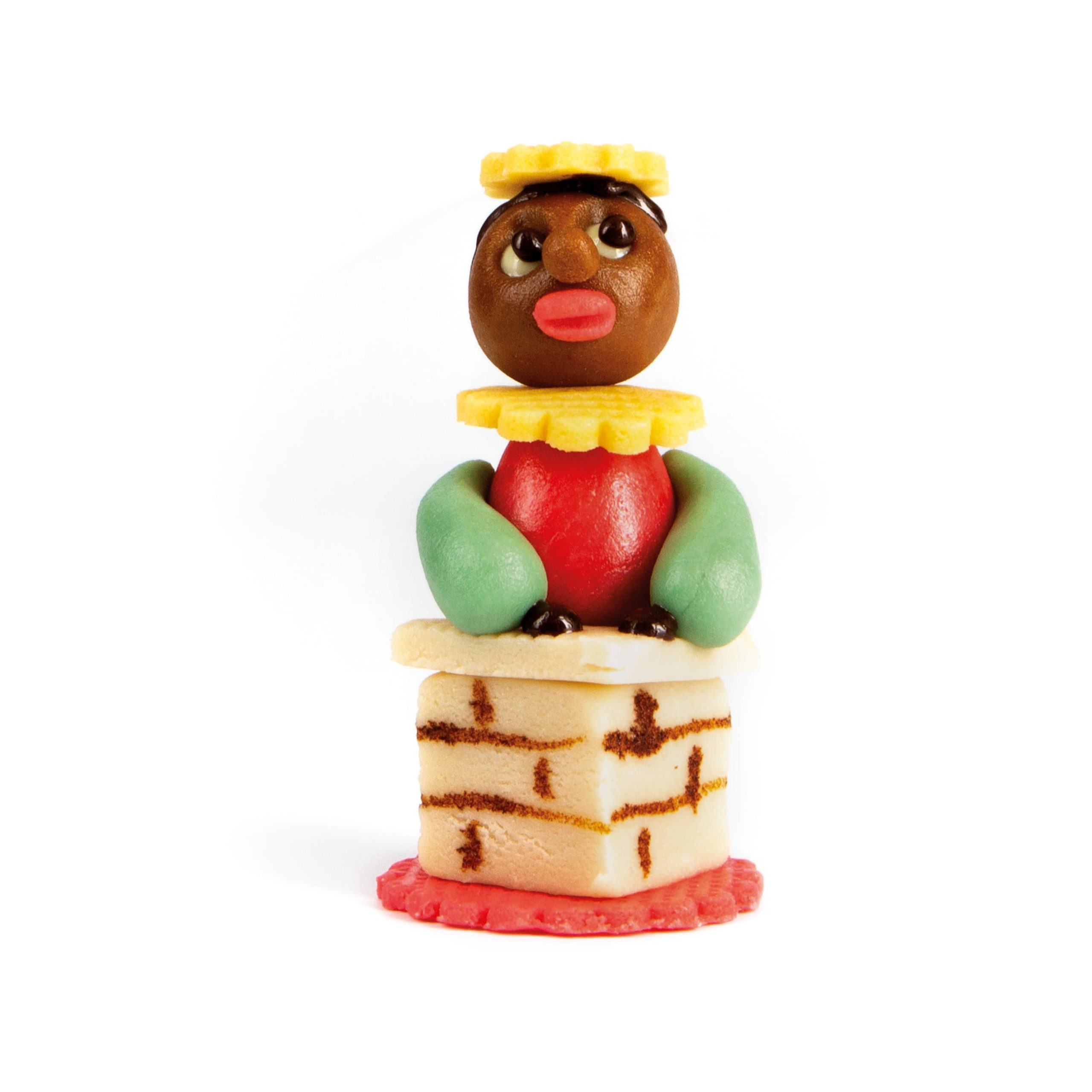 Marsepein Sint en Pietjes - Piet in Schoorsteen