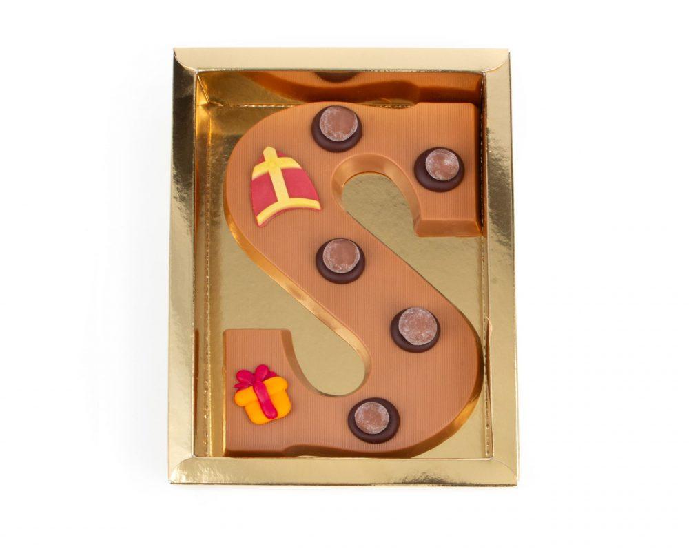 Chocolade Letter S - Sint Melk Groot